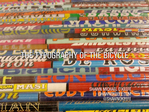 The Typography of the Bicycle